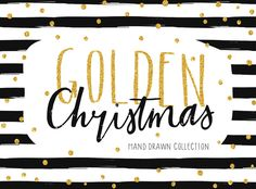 Gold Christmas Collection by Artnis on @creativemarket