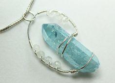 Handmade Healing Crystal Pendant Reiki by SolaraHealingArts