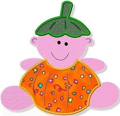 Baby Pumpkin Applique - 3 Sizes!   Baby   Machine Embroidery Designs   SWAKembroidery.com Abigail Michelle