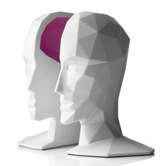 """""""If I only had half a brain"""" :) -Contemporary and unique, these bookends show everyone just how clever you really are."""