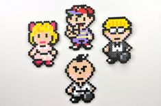 Earthbound Magnet Set Perler Bead Super by TheCraftyChimera, $20.00