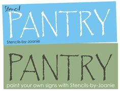 Primitive STENCIL Pantry Country Kitchen Spices Signs