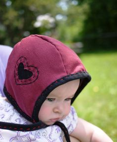 Handstitched baby hat out of t-shirt. I am dying. Could a boy pull this off?