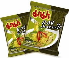 Mama Chicken Green Curry Instant Noodle 55g Pack of 4 -- Continue to the product at the image link.(This is an Amazon affiliate link and I receive a commission for the sales)
