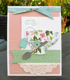 Krystal's Cards: Stampin' Up! A Nice Cuppa You Are Tea-riffic #stampinup #krystals_cards #anicecuppa #onlinecardclass #teariffic