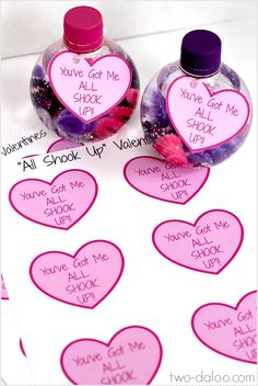 Make these easy, developmentally stimulating sensory bottle valentines with just a few materials. Includes free printable labels!