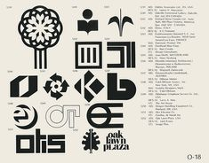 O-18  Collection of vintage logos from a mid-70's edition of the book World of Logotypes.