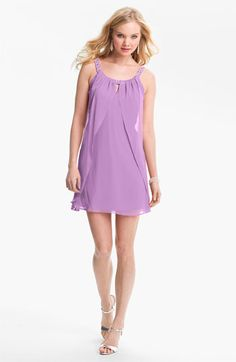 Hailey Logan Embellished Strap Flutter Dress (Juniors) (Online Exclusive) available at Nordstrom Prom?
