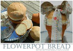 Flowerpot Bread Recipe {How to Make Bread in a Terra Cotta Flowerpot}