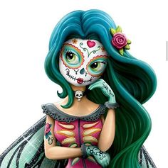 Sugar skull / Dia De Los Muertos / Day Of The Dead / Calaveras Caveira Mexicana Tattoo, Sugar Skull Artwork, Day Of The Dead Mask, Candy Skulls, Sugar Skulls, Gothic Fantasy Art, Chicano Art, Maquillage Halloween, Creepy Cute