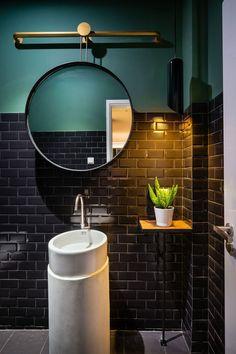 Pepper House small apartment bathroom - Home Decorating Trends - Homedit Pirate Bathroom Decor, Bathroom Rules, Bathroom Trends, Bathroom Interior, Bathroom Inspo, Bathroom Colors, Small Bathroom, Downstairs Bathroom, Bathrooms