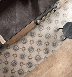 Idea per vestire la cucina con una piastrella dal look vintage - Cementine in cucina di Ceramica Sant'Agostino della collezione Patchwork Classic.