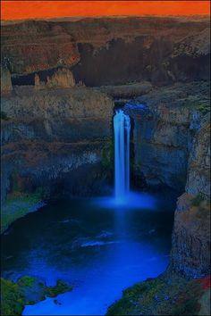Palouse Waterfall State Park Sunset, Washington State