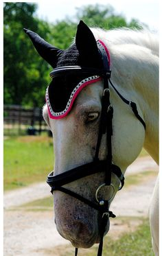 HOT Pink & Black Horse Fly Bonnet by ImperialBonnets on Etsy