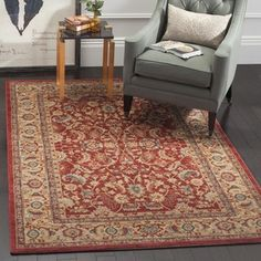 Shop for Safavieh Mahal Traditional Grandeur Red/ Natural Rug (8' x 11'). Get free shipping at Overstock.com - Your Online Home Decor Outlet Store! Get 5% in rewards with Club O!