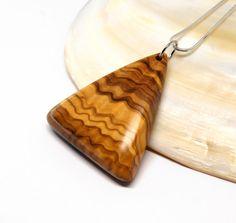 Wooden pendant Olive wood  Oil Finish by MASSIVARTS on Etsy