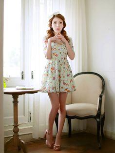 Mango Doll - Floral Bubble Dress, $46.00 (http://www.mangodoll.com/all-items/floral-bubble-dress/)