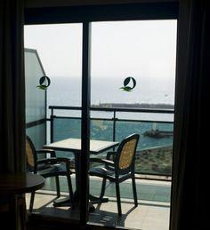 Vistas desde la habitación. - Views from the room.  Hotel Florida Spa. Fuengirola, Costa del Sol. SPAIN