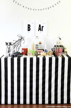 Adorable Bar setup from Celebrations at Home.