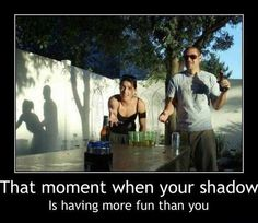 That moment when your shadow is having more fun than you!
