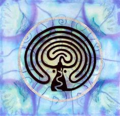 """Goddess Labyrinth of the Avalon Mysteries"" ~ The Priestesses of Avalon walked the labyrinth to connect with the Goddess and the sacred landscape of ancient Britain. Found worldwide, the serpent is a symbol of the powerful energies, or ley lines, of the earth, and of fertility and regeneration <3<3"