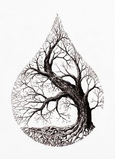 Tree Tattoo water drop tree Your Number One source for daily Tattoo designs Ideas Inspiration Tattoo Life, Tree Of Life Tattoos, Nature Tattoos, Body Art Tattoos, Tattoo Drawings, Art Drawings, Drawings Of Trees, Tattoo Sketches, Pencil Drawings
