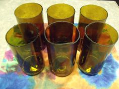 Set of 6 Recycled Brown Beer Bottle by FireAntDesign on Etsy, $22.00