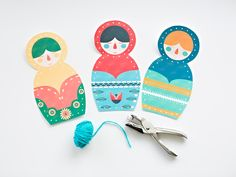 hello, Wonderful - MATRYOSHKA NESTING DOLLS FREE PRINTABLE LACING CARDS