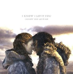 Screw you Ygritte!! Even though this picture is beautiful, and Jon Snow deserves to find love...