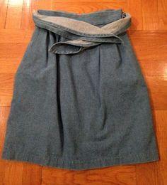 RH The Label Tie Waist Denim Skirt, $21.50, Tradesy.com