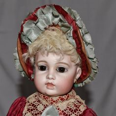 French Bebe Circle Dot Bru Bisque Head Doll from joan-lynetteantiquedolls on Ruby Lane
