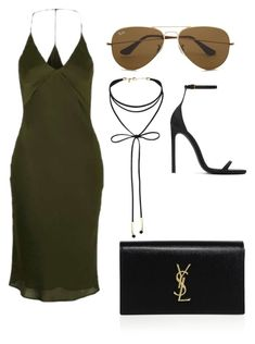 """""""Untitled #627"""" by mchlap on Polyvore featuring Topshop, Ray-Ban, Miss Selfridge and Yves Saint Laurent"""