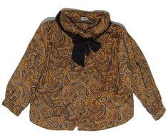 Siirry tuotteeseen - ruskea vintage paisley pusero