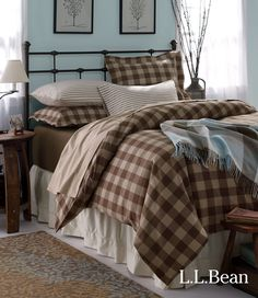Mix And Match LLBeans Ultrasoft Flannel Bedding In Solids Stripes Buffalo Plaid