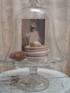 love this glass cloche vignette The Bell Jar, Bell Jars, Cloche Decor, Glass Domes, Glass Jars, Apothecary Jars, Photo Displays, Happy Mothers Day, Shadow Box