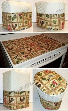 Custom Quilted Farmers Market Matching Appliance Cover Set