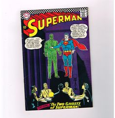 SUPERMAN (v1) #186 Grade 7.0 Silver Age DC! The two ghosts of Superman!  http://www.ebay.com/itm/SUPERMAN-v1-186-Grade-7-0-Silver-Age-DC-two-ghosts-Superman-/291345919987?roken=cUgayN&soutkn=65gf2w