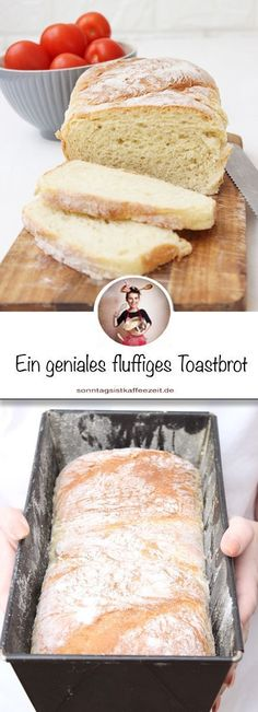 Toastbrot kann man ganz einfach selbst backen, wie ich neulich festgestellt habe… You can easily bake toast yourself, as I noticed recently. All you need is a few ingredients to get a fluffy and light toast. Sandwich Recipes, Bread Recipes, Mexican Breakfast Recipes, French Toast Bake, Polish Recipes, French Pastries, Few Ingredients, Pampered Chef, Recipes