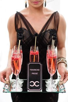 Wedding Coco Chanel Signature Drinks / Coco Chanel Theme / Luxure Weddings / http://blog.revo.net.pl