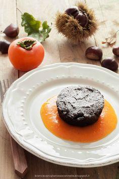 Biancavaniglia Rossacannella: Capresine di castagne con salsa ai cachi (Gluten free)