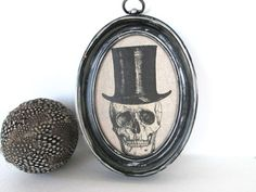 #Steampunk #Skull #Art Picture Framed by ElmPlace on Etsy, $38.00
