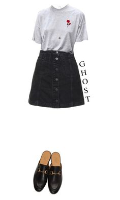 """g h o s t"" by julietteisinthe80s on Polyvore featuring Topshop, Ileana Makri and Gucci"