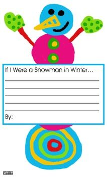 If I Were a Snowman in Winter...Writing Prompt