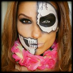 Best Halloween Makeup Ideas. Halloween Makeup. Skull makeup. BROKEN skull