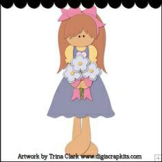 Little Miss Patriot 2 - Trina Clark Cutting File / Paper Piecing : Digi Web Studio, Clip Art, Printable Crafts & Digital Scrapbooking!