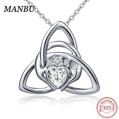 228fce76b949 special design 925 sterling silver cross heart love pendant necklace  diamond essentials sterling silver & pave heart necklace star of david  necklace#manbu ...