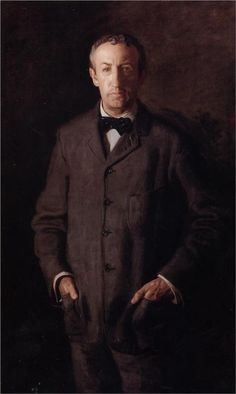 Portrait of William B.Kurtz, 1903 by Thomas Eakins (American (1844-1916). This four button jacket, with patch pockets, is very typical of the Edwardian period.