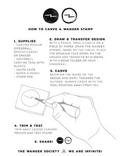 How to carve a Wander stamp