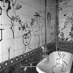 LM Loves: This brilliant bathroom decorated by the illustrious American cartoonist Saul Steinberg.