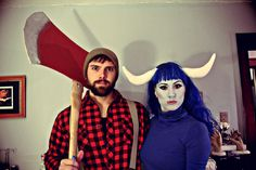 Paul Bunyan and Babe the blue ox. HOLY MOLY! Dont be surprised if Dan and I straight up copy this next year. Max could go as a stack of flapjacks.